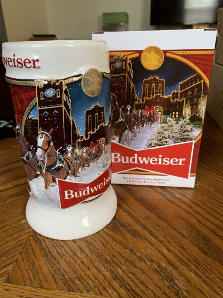 "Budweiser Clydesdale Holiday Stein ""Brewery Lights"" 41st Edition 2020 Bud"