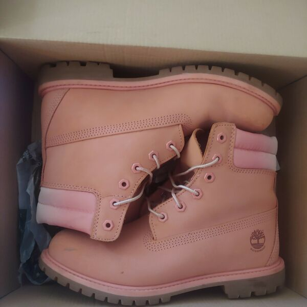 Timberland Pink Women#x27;s Nubuck Leather Ombre 6quot; Boot Bootie Combat $200.00