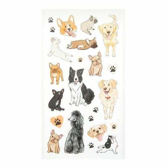 Furry Friends Dog Pets Animals Stickers Planner Papercraft Party Frenchie Corgi $2.95