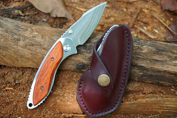 Small Folding Knife 271 Buck Blade Hardness 58 60hr Redwood Handle Portable Pock