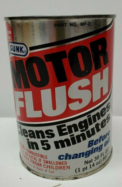 Vintage Oil Can Gunk Motor Flush Great Condition Empty but Unopened PLEASE READ $9.99