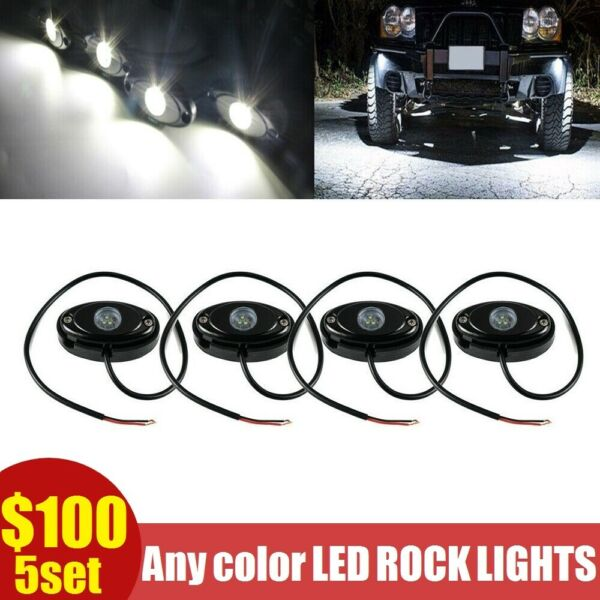 4x Pods 2quot; Underbody LED Rock Lights Accent Under For Ford F 150 F250 F350 White $26.00