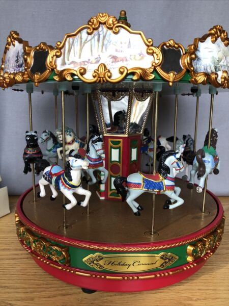 2003 MR CHRISTMAS THE CAROUSEL 15 CHRISTMAS CAROLS W ORIG BOX Works