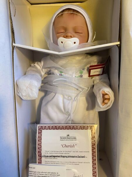 New NRFB Ashton Drake Galleries Cherish So Truly Real Vinyl Newborn Baby Doll