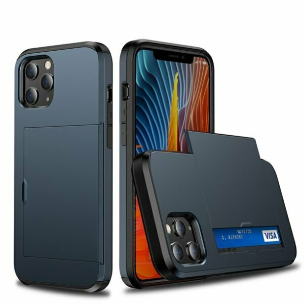 For iPhone 12 11 Pro Max XS XR X Shockproof Cover Heavy Duty Wallet Card Holder