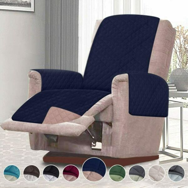Blue 21quot; Recliner Cover Chair Furniture for Pets Hair Kids Pet Protector Quilted $18.99