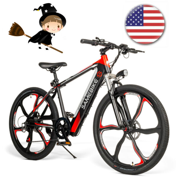 26#x27;#x27;Electric Mountain Bicycle 350W 36V Bike Smart Moped E Bike Adults Gift Black $715.99