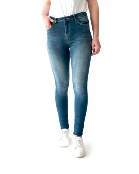Women#x27;s Stretch High Rise Designer Skinny Jeans Casual Denim Pants Slim Fashion