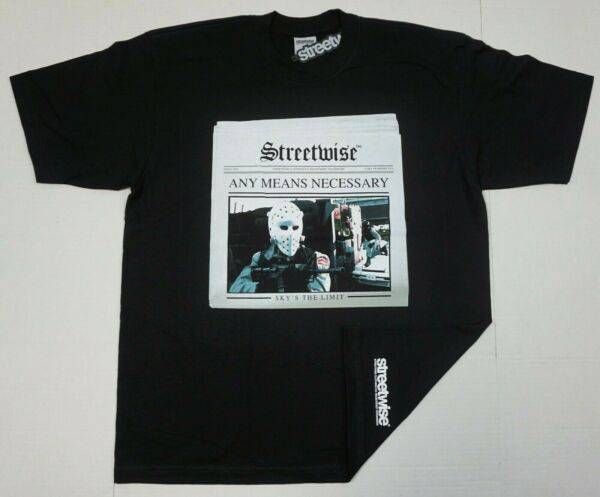 STREETWISE ANY MEANS NECESSARY T shirt Urban Streetwear Adult Men#x27;s Tee New $28.95