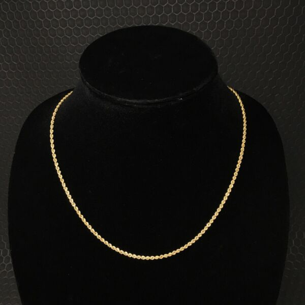 14K Solid Yellow Gold Rope Chain 20quot; Necklace No Scrap J002 $499.00