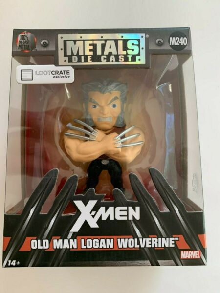 Jada Toys Marvel Metals Die Cast X Men Old Man Logan Wolverine Loot Crate NIP