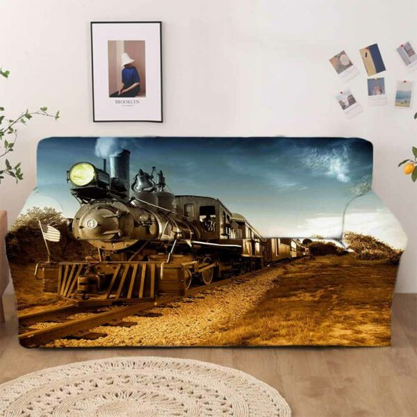 Train Fog Stretch Sofa Cover Lounge Couch Slipcover Recliner Protector Washable AU $43.11