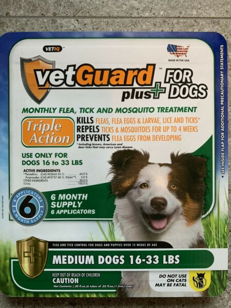 Dog Flea Tick Lice Treatment Control Medicine 6 Month Prevention For Medium Dogs $23.99