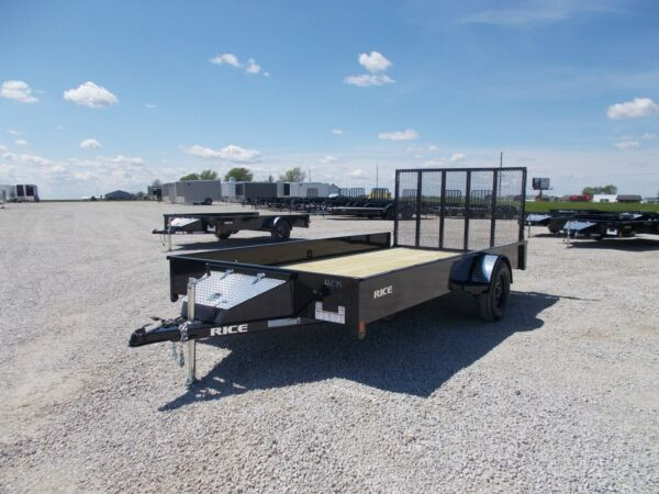 2020 Rice Trailers Stealth 82X14#x27; Single Axle Solid Side Utility Trailer $1999.00