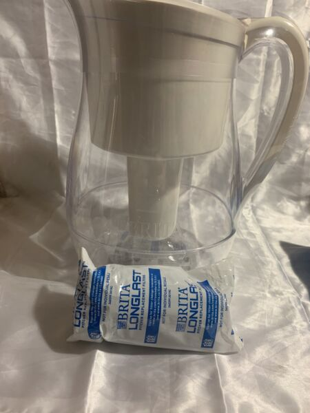 BRITA Monterey BPA Free Water Filter Pitcher LONGLAST Filter 10 Cup NEW SEALED