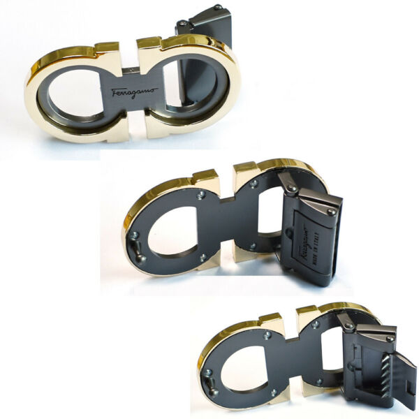 Classic Men#x27;s Feragamo Gold with Gray Belt Buckle for 34 35mm leather strap $25.00