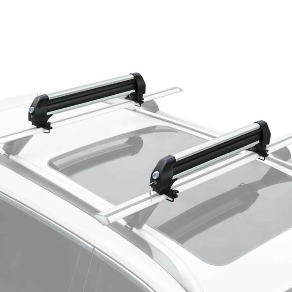 Universal Roof Mount Ski Snowboard Car Rack Carrie Carry 4 Snowboard 6 Pair Skis $78.39