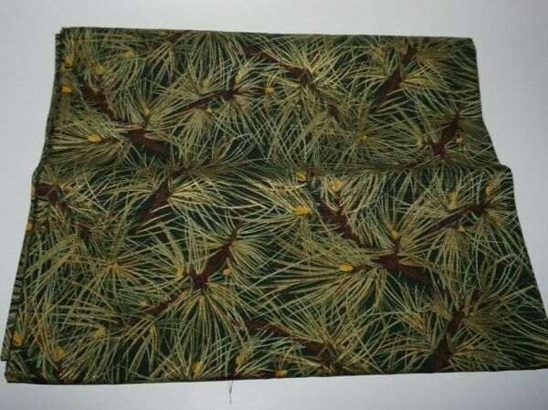 1yd. x 44quot; Moda quot;Gold amp; Green Pine Needlesquot; Sewing Quilting Cotton Fabric