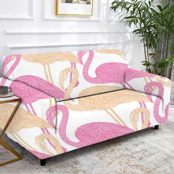Degree Flamingo Stretch Sofa Cover Lounge Couch Slipcover Recliner Protector AU $43.11