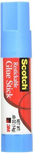 Removable Restickable Glue Stick .49oz Repositionable Stick 2 PACK