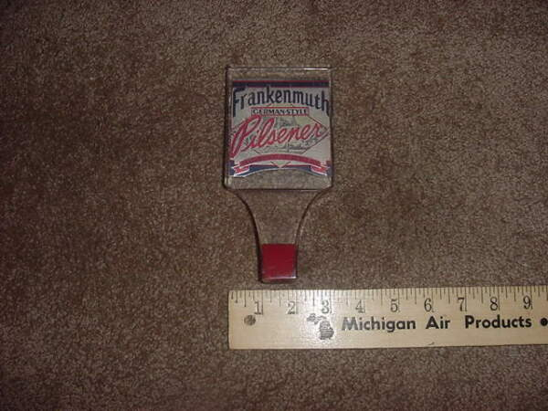VINTAGE BEER TAP HANDLE KNOB FRANKENMUTH GERMAN STYLE PILSENER
