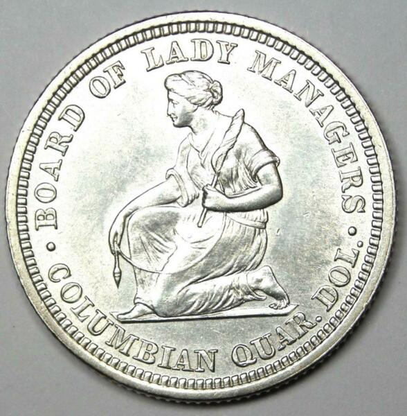 1893 Isabella Quarter 25C Choice AU UNC MS Detail Rare Commemorative Coin
