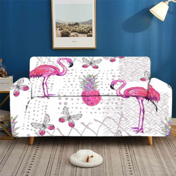 Flamingo Absolute Stretch Sofa Cover Lounge Couch Slipcover Recliner Protector AU $43.11