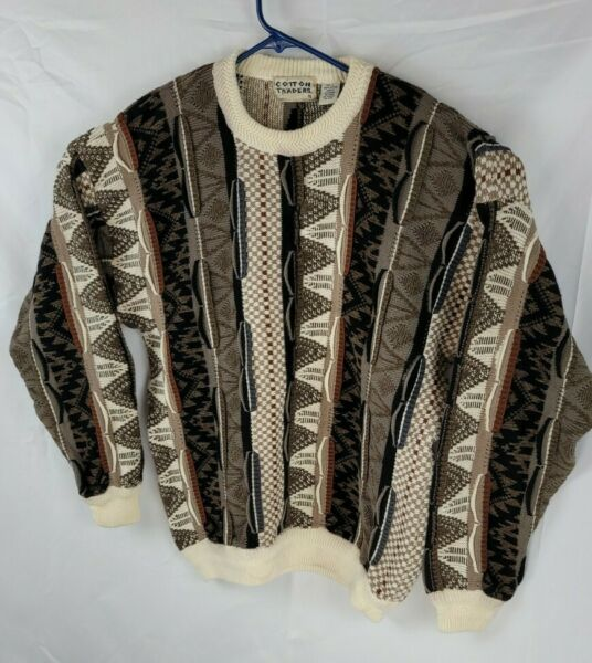 Cotton Trader Vintage Coogi Style 90's Crewneck Sweater Large Pullover Sweater $47.99