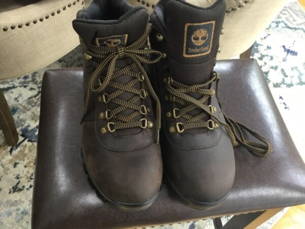 Men's Timberland Size 11.5 Boots New With Tags Dark Brown Timberdry Anti Fatigue $74.99
