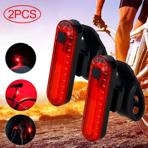 2PCS Rear Bike Light Powerful LED USB Rechargeable Bike Back Light Waterproof US $9.49