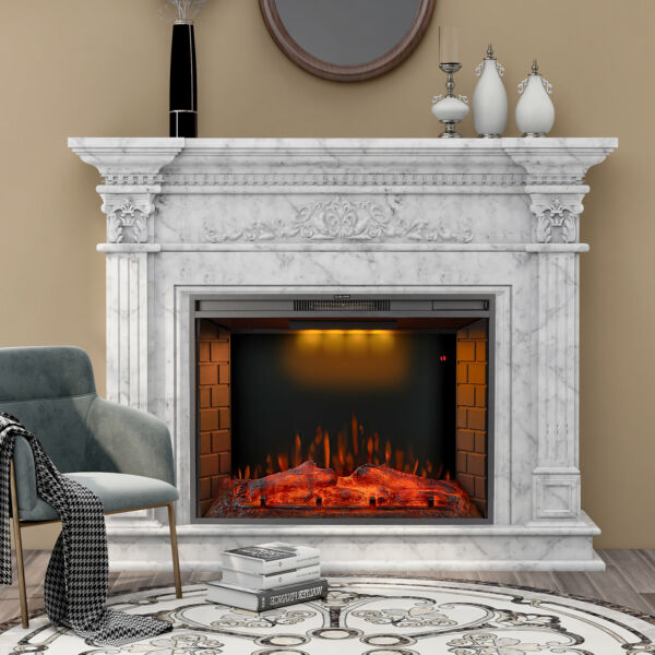 Merax 28 30 33 inch LED Recessed Electric Fireplace w Top Light ONLY FIREPLACE