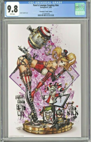 Faro#x27;s Lounge Cosplay CGC 9.8 HQ Steampunk Virgin Edition Harley Cover Tyndall $129.99