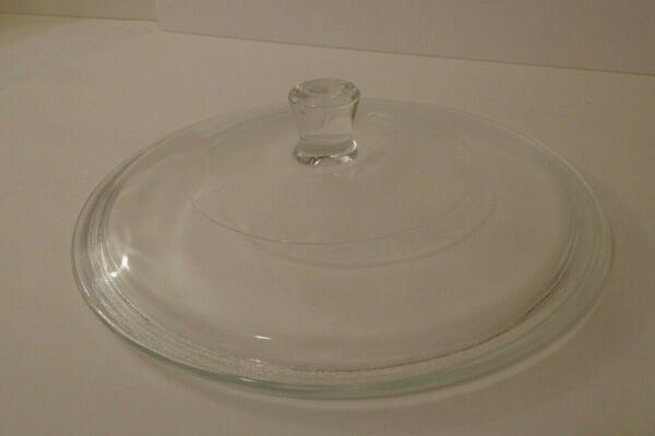 Vtg Glasbake Federal Replacement Round Glass Lid J526