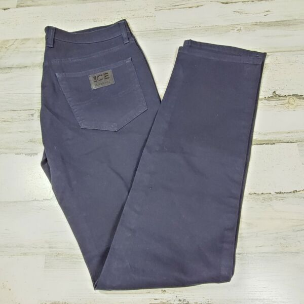 $180 Ice Iceberg Men Jeans Blue W33 L34 New Made In Italy $79.99