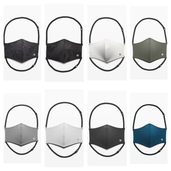 New Authentic Lululemon Double Strap Adjustable Face Mask Choose Your Color