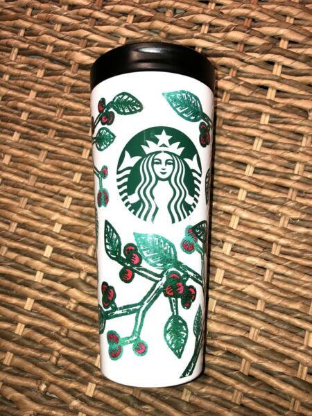 starbucks steel tumbler 2016 holidays christmas so unique Excellent condition