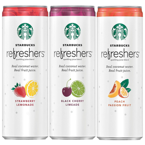Starbucks Refreshers with Coconut Water 3 Flavor Variety Pack 12 Oz 12 Pack