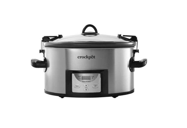 New Crock Pot 7 Quart Easy Clean Slow Cooker with Locking Lid
