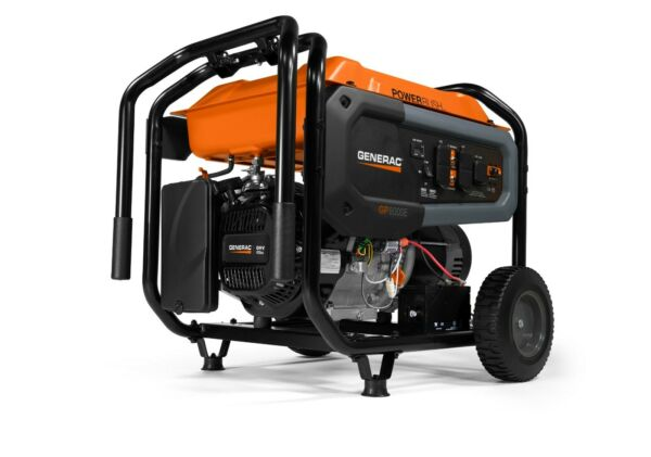 Generac 7676 GP8000E 8000 Watt Electric Start Portable Generator 50 ST