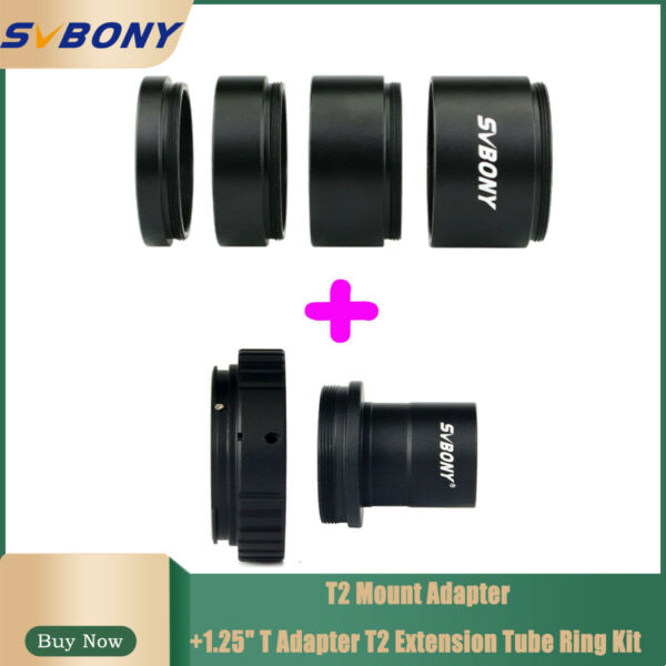 SVBONY T2 Mount Adapter1.25quot; T Adapter T2 Extension Tube Ring Kit 5 10 15 20mm $35.24