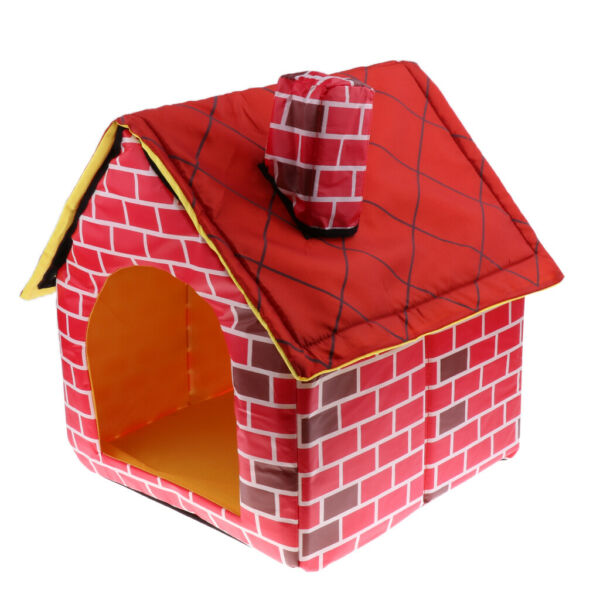 Portable Pet House Bed Detachable Warm Soft Indoor Dogs Cats Pets House Bed $21.75