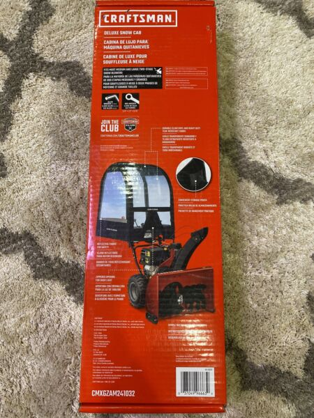 Deluxe Snow Thrower Cab Craftsman Most 2 stage blowers CMXGZAM241032