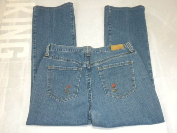 Tommy Hilfiger Womens Jeans Size 14 Blue Denim Stretch Hipster Boot $22.49