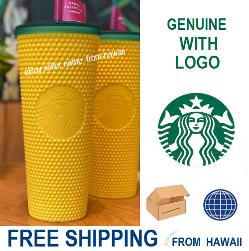 Studded Pineapple Yellow Tumbler 24oz 2020 Starbucks Hawaii Collection Exclusive