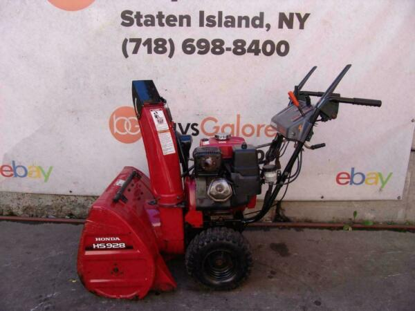 Honda HS928 Snow Blower 9HP 28 inches Wide Starts and Runs Fine #4