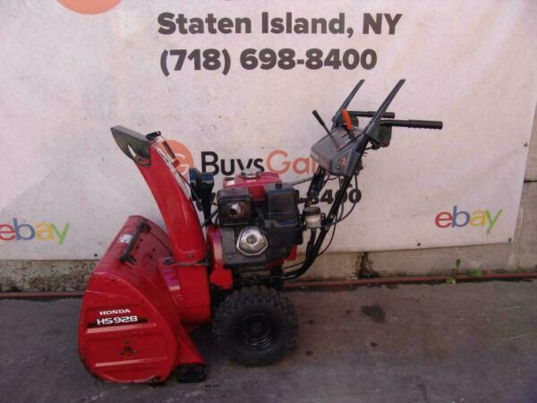 Honda HS928 Snow Blower 9HP 28 inches Wide Starts and Runs Fine #2