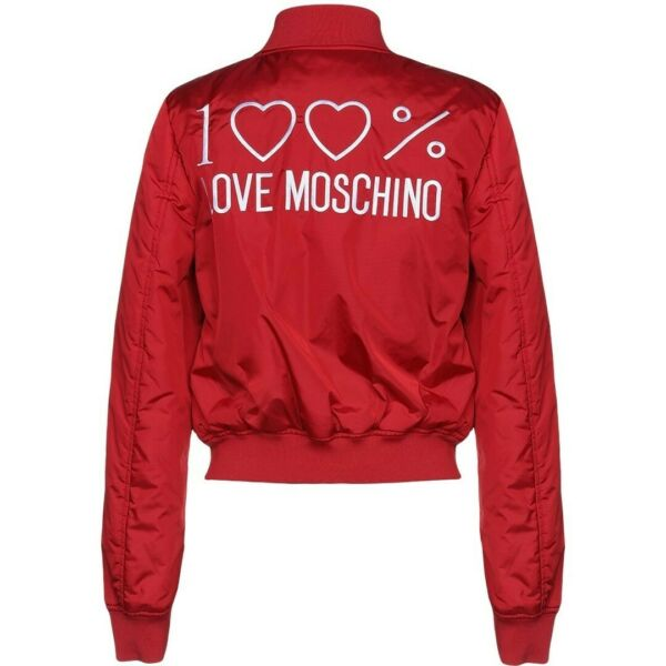 100% Love Moschino Red Bomber Jacket US4 Small NWT $229.00