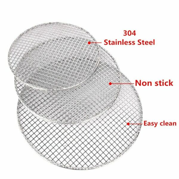 304 stainless steel round barbecue BBQ grill net meshes racks grid round grate S