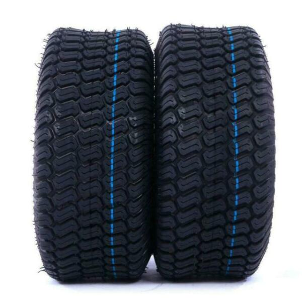 2 TIRES Tubeless 15x6.00 6 Turf Tires 4Ply Lawn Mower tires