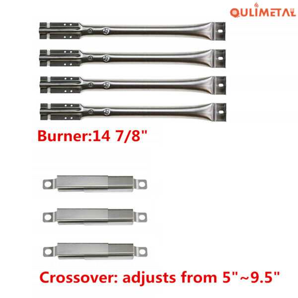 14 7 8quot; Burner Tube Adjustable Crossover For Charbroil Kenmore Nexgrill Grills
